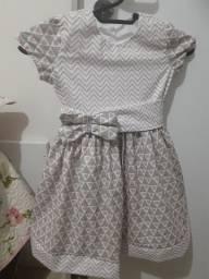 Vestido infantil 100% algodão tricolini nova