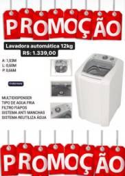 Máquina de lavar automática 12kg mega oferta
