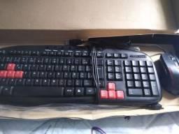 Teclado Kmex + Mouse para PC Gamer