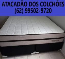 Cama Box + Colchão TRump Star Tamanho Queen Size *