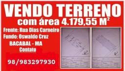 Vendo terreno em Bacabal 4,179,55m no centro de Bacabal MA/