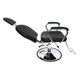 Cadeira Hidráulica e Reclinável Salão ou Barbearia Nova com Garantia Entrega Grátis