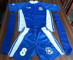 Fardamento de Futebol com 11 Peças Completas + 1 Camisa Extra