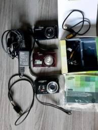Conjunto de quatro câmeras digitais