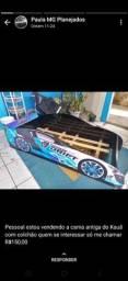 Título do anúncio: Cama carros seminova com colchão