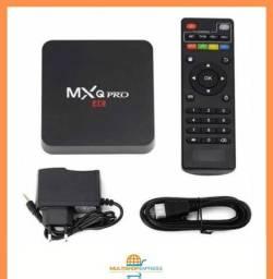Aparelho TV Box MXQ Pró Wifi Transforma TV em Smart