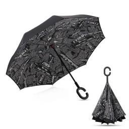 Título do anúncio: Guarda-Chuva Sombrinha Grande Invertido Abre e Fecha ao Contrário
