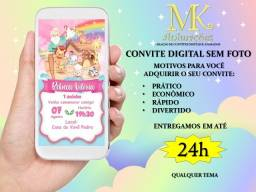 Convite Digital sem Foto