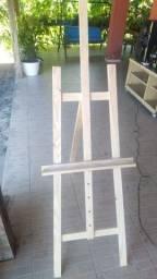 Cavalete de madeira para telas