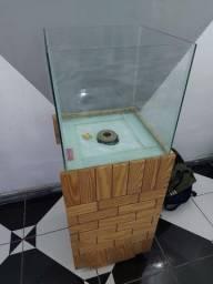 Título do anúncio: Lindo aquário 90 litros com movel