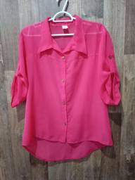 Título do anúncio: Camisa Rosa Social