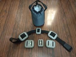 Título do anúncio: Lastro de mergulho encapado + cinto + bolsa para lastro