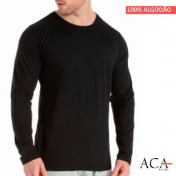 Camiseta Manga Longa 100 % Algodão