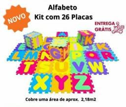 Título do anúncio: TAPETE TATAME INFANTIL ALFABETO COMPLETO COM 26 PLACAS DE A Á Z .<br>