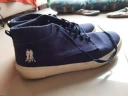 Título do anúncio: Tênis Polo Wear 41 Azul marinho usado só 2 vezes
