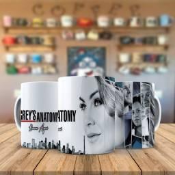 Serie Greys Anatomy Meredith Caneca Personalizada Para fãs da serie