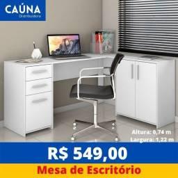 Título do anúncio: Mesa Escritório Office em L - Novo - Entrega Grátis