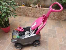 Título do anúncio: Carrinho Smart Baby Comfort Rosa e Grafite<br><br>