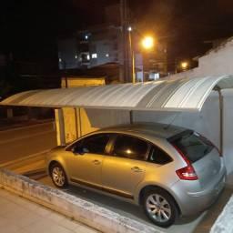 garagem toldo em aluminio / aço -   zetaflex