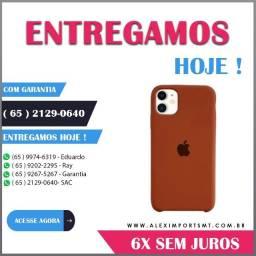 Capa Capinha Silicone iPhone 11 Marrom Barata Lançamento