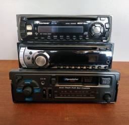 2 cd player pioneers  + 1 toca fitas roadstar