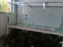 Vendo 3 aquarios de vidro incolor 8mm