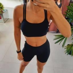 Short suplex power preto para treinar