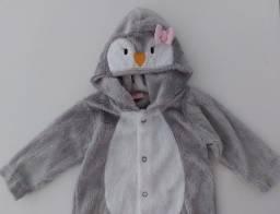Título do anúncio: Macacão peluciado pinguim-M