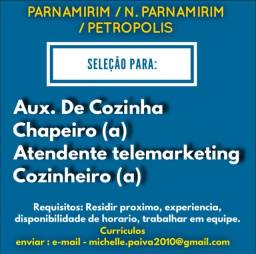 Título do anúncio: Atendente - auxiliar de cozinha - telemarketing
