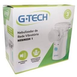 Título do anúncio: Nebulizador sem fio de rede G-Tech Nebmesh I branco e azul-celeste<br>