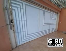 Policarbonato no portão - G 90 Shopping