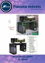 Título do anúncio: Mesa d_Gamer Com detalhes verde Frete_Grátis