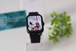 Título do anúncio: Smartwatch P8 Plus Preto Tela Infinita Coloca Foto Lançamento Controle de Player de Música