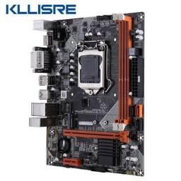 Título do anúncio: Placa Mãe Kllisre B75 1155 + 16GB Memoria Ram - Entrego e Aceito Cartões