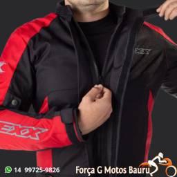 Jaqueta Texx Ronin Preto/Vermelho em 10x sem juros (loja física)