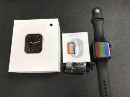 Smartwatch W26 Lite Preto Troca Pulseira Faz Ligação Tela Infinita