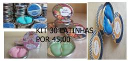 kit 30 latinhas com pezinhos