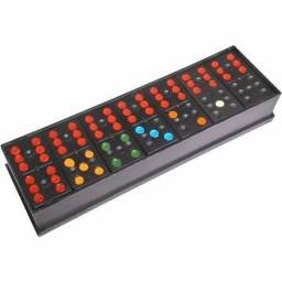 Domino colorido de plástico