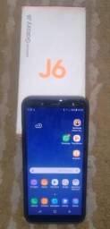 Celular J6 novo 64GB de memória. com carregador e Fone original na caixa e nota fiscal