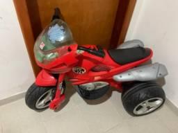 Moto Elétrica Infantil Super Moto Gt2 Turbo Vermelha 12v - usada