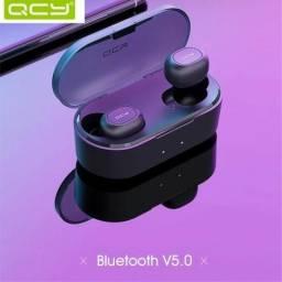 Fone De Ouvido QCY T2C/T1S Bluetooth 5.0 À Prova D'água e Suor