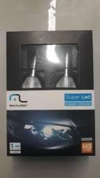 Vendo par de lâmpadas Super Led para Veiculos Multilaser 6200k H3 12V 30W