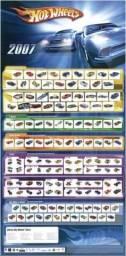 Coleção carrinhos Hot Wheels ano 2007 + pôster
