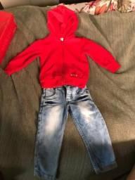 Conjunto infantil calça + jaqueta 1 ano