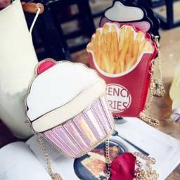 Bolsas divertidas: pipoca, cupcake e batata frita