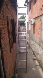 Escada em alumínio 10 degraus 7M