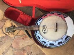 Bandolim banjo Del Vecchio - Anos 60 - Raríssimo - Leia