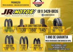 pneus para motos dianteiro e traseiro