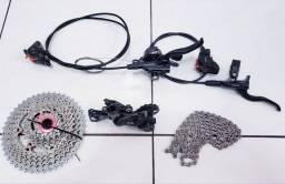 Kit Shimano 11v c/ freio (Vendo separado tb)