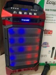 Caixa Amplificada Ecopower 10 polegadas + microfone sem fio
